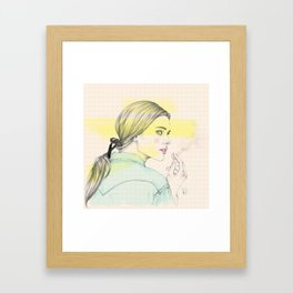 Smoke girl Framed Art Print