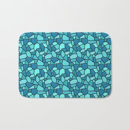 Stained Glass Blue Bath Mat