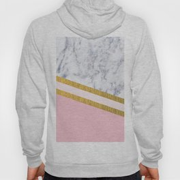 St Lucia striped blush marble Hoody