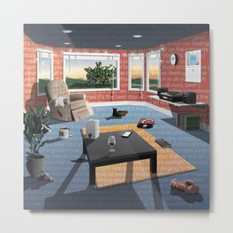 "Hippo Campus - ""Landmark"" Lyrics Metal Print"
