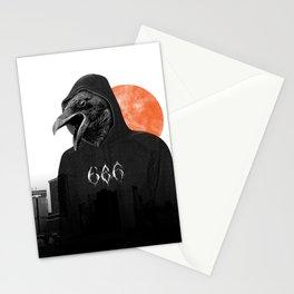 The Satanic Metal Crow Stationery Cards