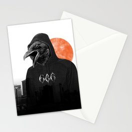 The Satanic Metal Crow Stationery Cards