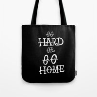 gym Tote Bags featuring Gym by Textures