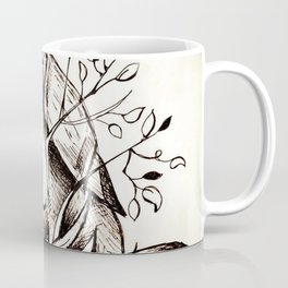 Bird eating branches Coffee Mug