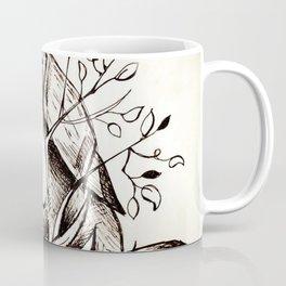 Bird eating branches Coffee Mug