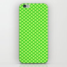 Quatrefoil Pattern, Green/Yellow iPhone & iPod Skin
