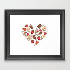In love with icecream Framed Art Print
