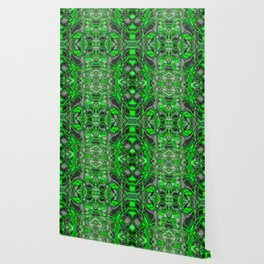 Abstract #8 - II - Neon Green Pop Wallpaper