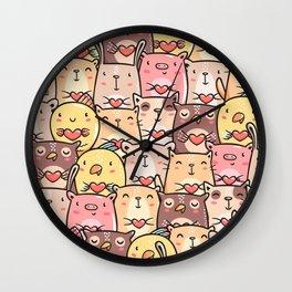 Sweet Pets Wall Clock