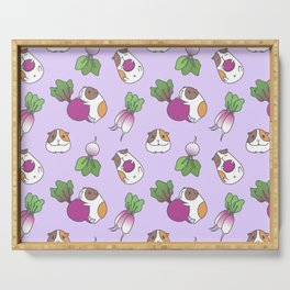 Guinea Pig and Radish Pattern Serving Tray