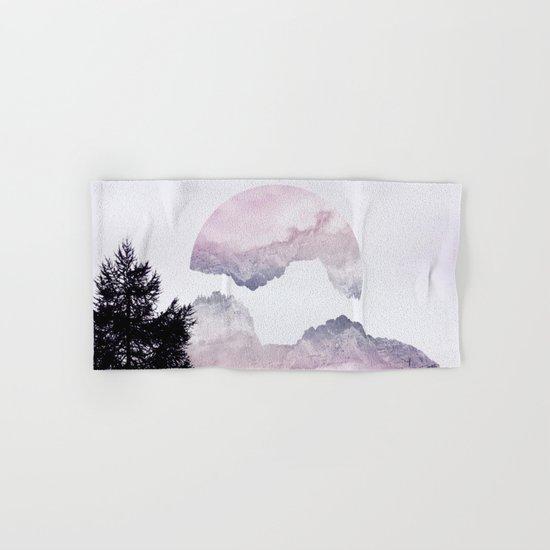 Pink Mountains Hand & Bath Towel