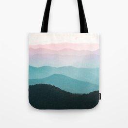 Smoky Mountain National Park Sunset Layers III - Nature Photography Tote Bag