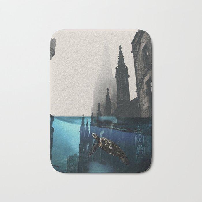 City under water Bath Mat