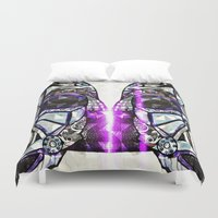 dark side Duvet Covers featuring Dark Side by Just Bailey Designs .com