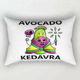Avocado Kedavra - Death Eater Avocado with Wand Rectangular Pillow