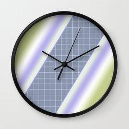Colorful diagonal stripes . 2 Wall Clock
