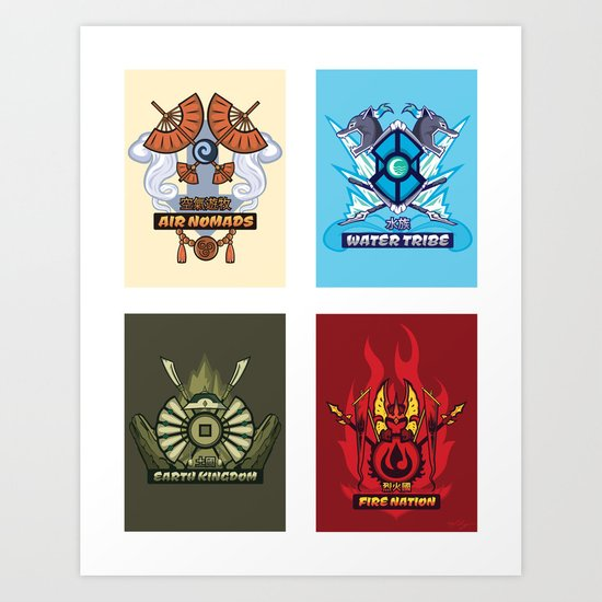 AVATAR NATIONS SERIES FULL SET Art Print