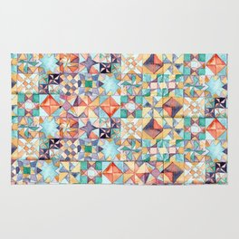 watercolour quilt Rug
