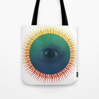 third eye Tote Bags featuring Third Eye by ochre7