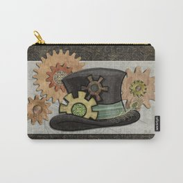 Steam Sass Steampunk Mixed Media Carry-All Pouch