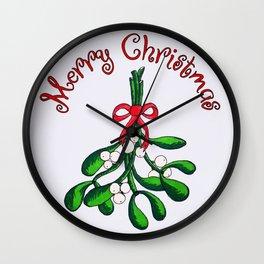 Mistletoe Wall Clock