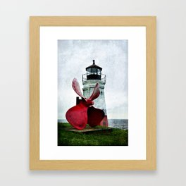Lighting the way Framed Art Print