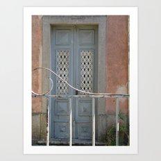 Bluish door Art Print