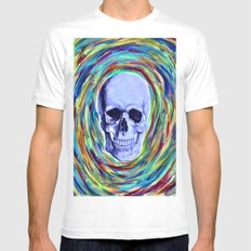 A Skull's Vortex MEDIUM Mens Fitted Tee White