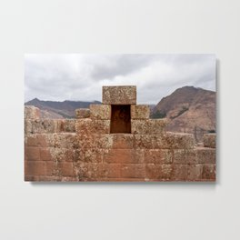 Ancient ruins of the Sacred Valley Metal Print