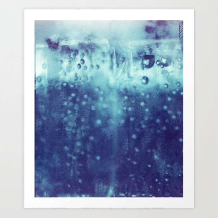 Blue and purple bubble clouds Art Print