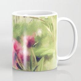 Pink Peonies In A Vintage Garden Coffee Mug
