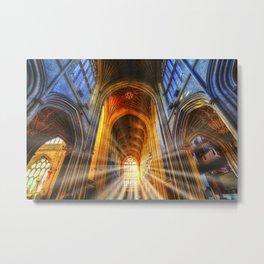 Bath Abbey Sun Rays Metal Print
