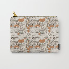 Ditsy Garden in brown Carry-All Pouch