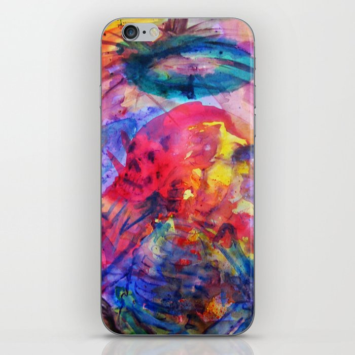 psychedelic angel corpes iPhone Skin
