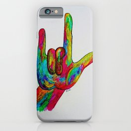 American Sign Language I love you iPhone Case