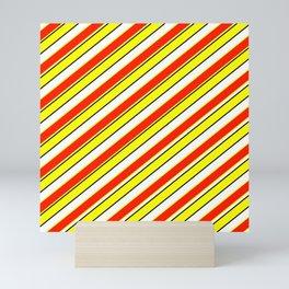 TEAM COLORS 1…Scarlett and yellow Mini Art Print