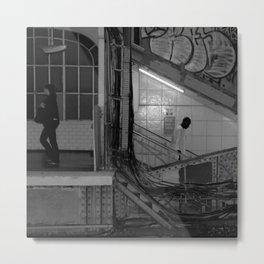Where are we going // Jean Jaurès Stop, Paris, 2009 Metal Print