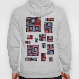 Black and White Squares Pattern 01 Hoody