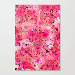 Peachy Pink Garden Canvas Print