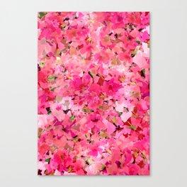 Peachy Pink Garden Canvas Print