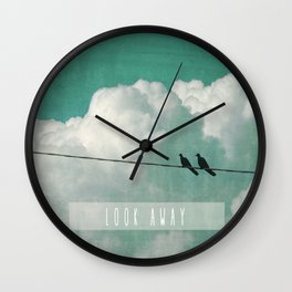 LOOK AWAY Wall Clock