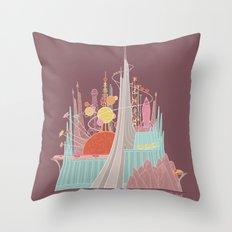 Space Mountain Throw Pillow