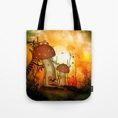 The fairy house in the night Tote Bag