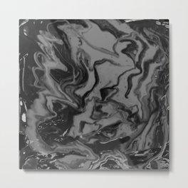 Fluid Marble Painting Metal Print