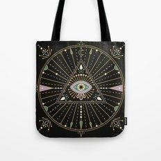 Evil Eye Mandala – Black Tote Bag