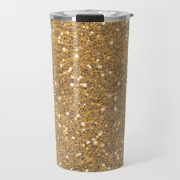 Gold Glitter Travel Mug