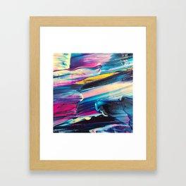 neon brush strokes Framed Art Print