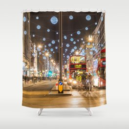 Christmas in London Shower Curtain