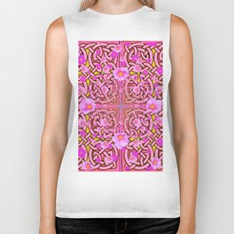 MYSTIC PINK CELTIC ROSE ART Biker Tank