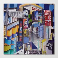 broadway Canvas Prints featuring Broadway by Grettyworks